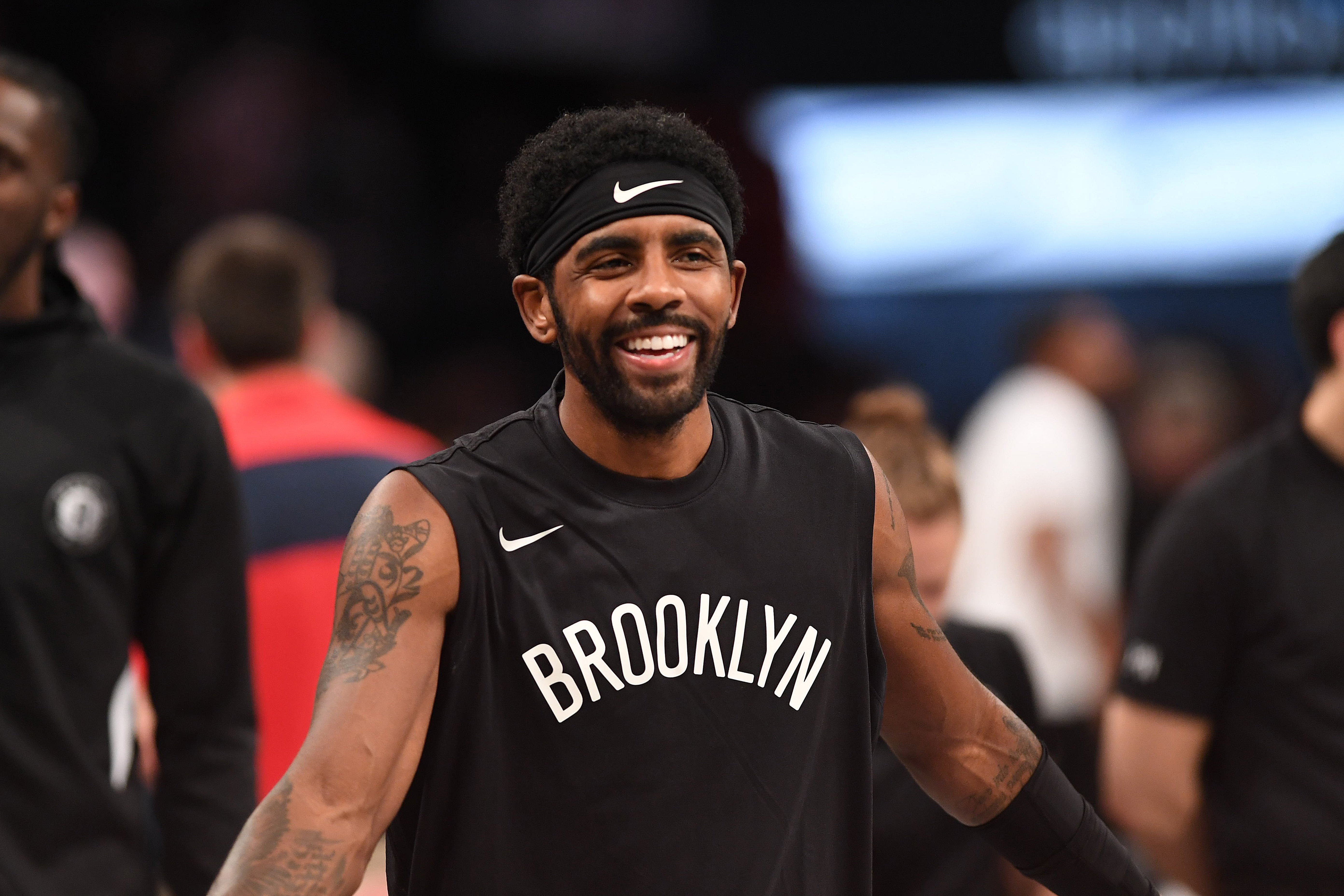 Kyrie Irving warming up before a game against the New Orleans Pelicans on November 4, 2019. | Photo: Getty Images