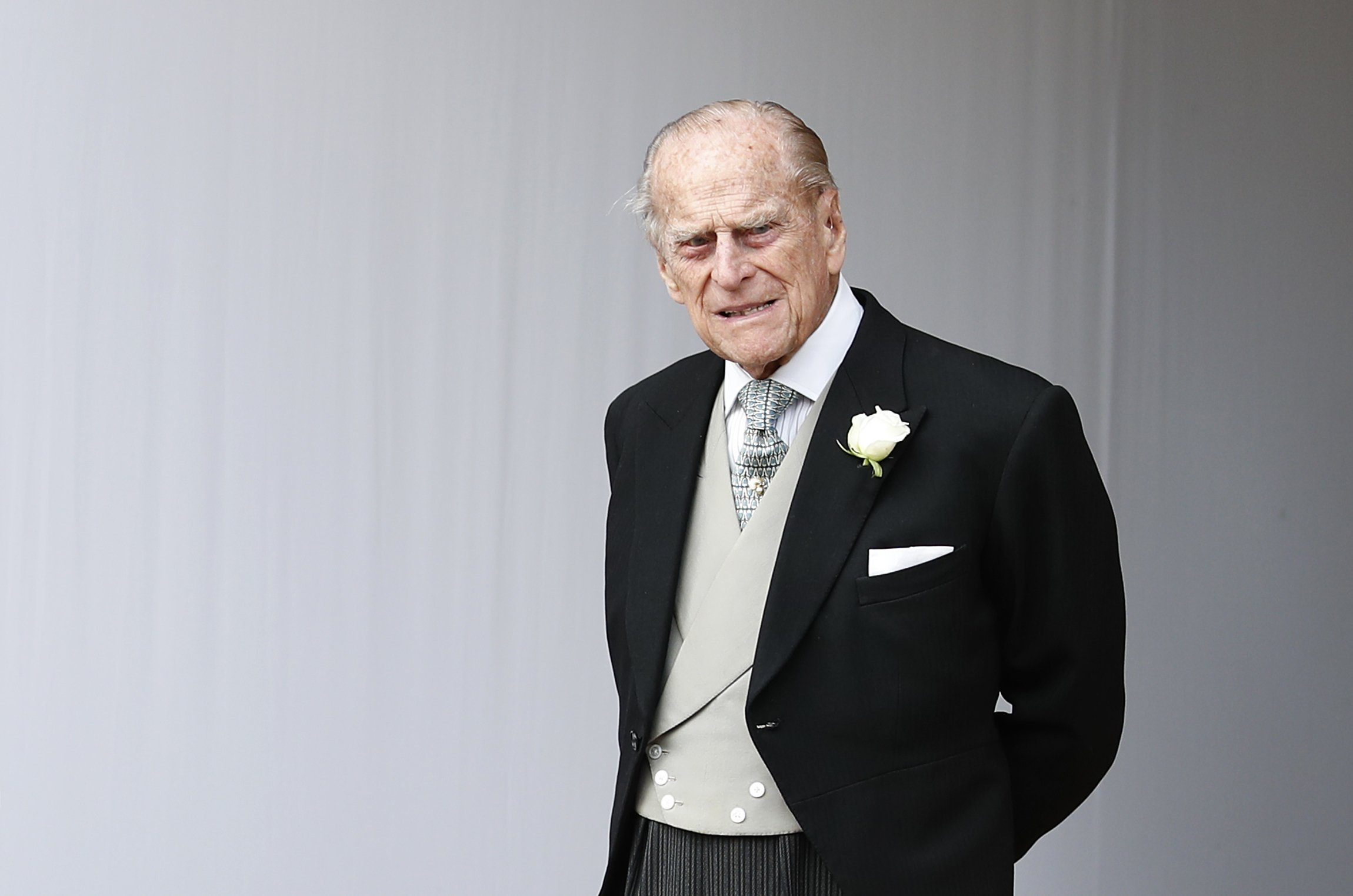 Prince Philip attends the wedding of Princess Eugenie of York to Jack Brooksbank at St. George's Chapel on October 12, 2018 in Windsor, England | Photo: Getty Images