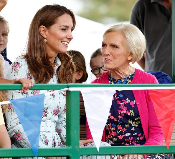 "Catherine, Duchess of Cambridge and Mary Berry attend the ""Back to Nature"" festival at RHS Garden Wisley on September 10, 2019 in Woking, England 