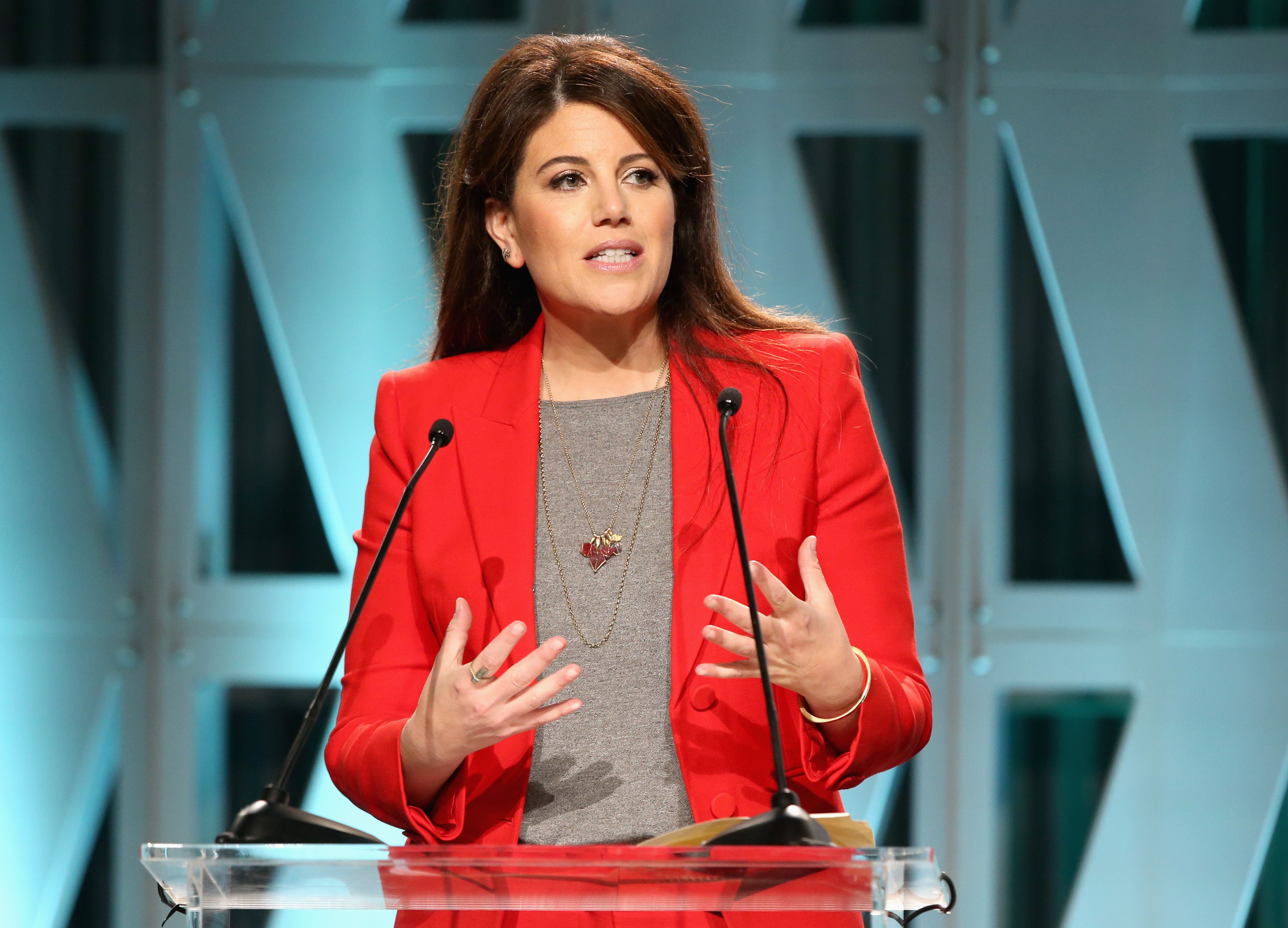 Monica Lewinsky speaks onstage at The Hollywood Reporter's Power 100 Women In Entertainment at Milk Studios on December 5, 2018   Photo: Getty Images