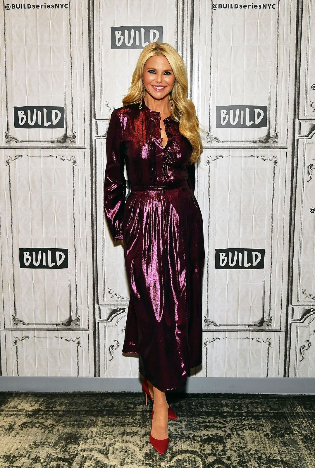 """Christie Brinkley visits Build Series to discuss """"Milestones of Me"""" campaign to encourage women to celebrate life's milestones at Build Studio on January 29, 2019 in New York City. 