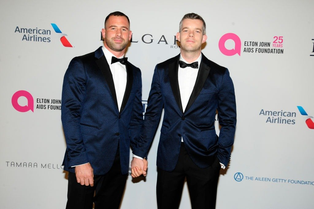 Steve Brockman and Russell Tovey at the Elton John AIDS Foundation 25th anniversary at Cathedral of St. John the Divine on November 7, 2017   Photo: Getty Images