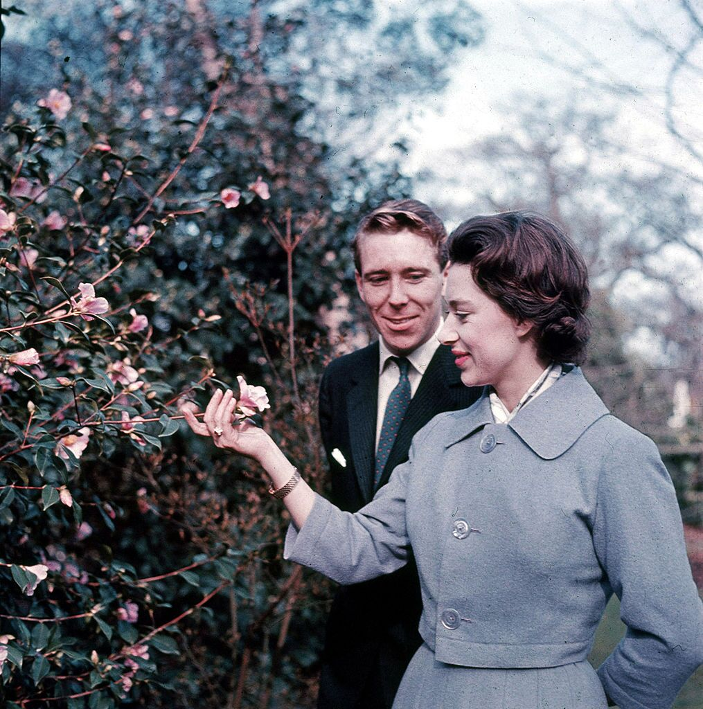 Princess Margaret and Antony Armstrong-Jones stand February 27, 1960 in the grounds of Royal Lodge on the day they announced their engagement.  | Getty Images