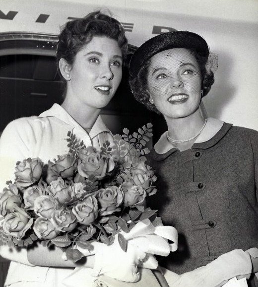 "Elinor Donahue (Betty Anderson) and Jane Wyatt (Margaret Anderson) from the television program ""Father Knows Best."" 