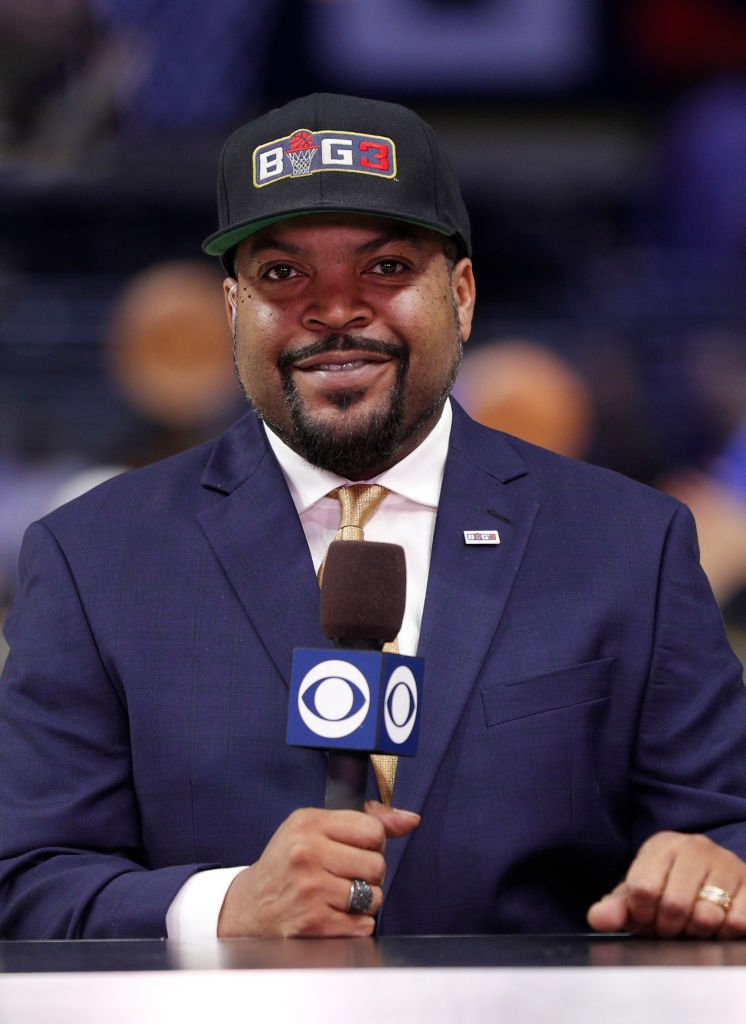 BIG3 co-founder Ice Cube speaks to the media on CBS before the BIG3 Championship at Staples Center on September 01, 2019 | Photo:  Getty Images