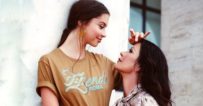 Catherine Zeta-Jones Shares Throwback Photo with Daughter Carys from a Fendi Photo Shoot