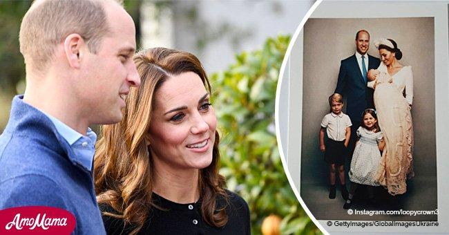 Kate Middleton et le Prince William remercient leurs fans loyaux en leur envoyant un adorable portrait de famille