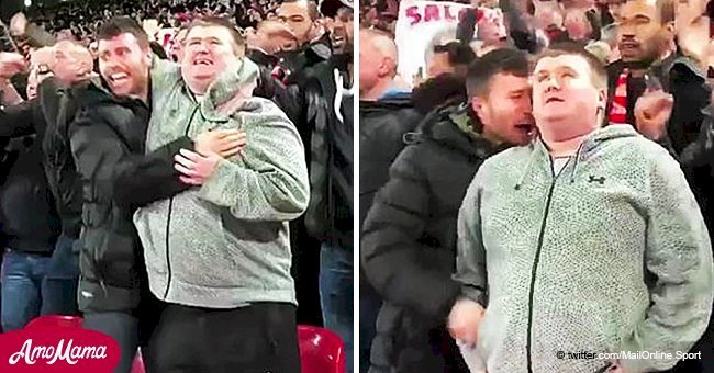 Touching moment fan explains vital goal against a soccer team to his blind cousin