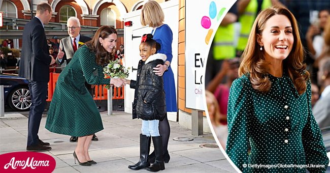 Kate Middleton receives flowers from girl with anemia, and her reaction is cuteness overload