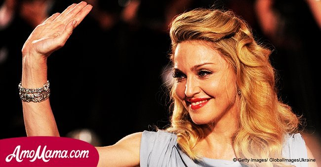Madonna is seen with her two adopted young daughters, revealing their mother-daughter bond