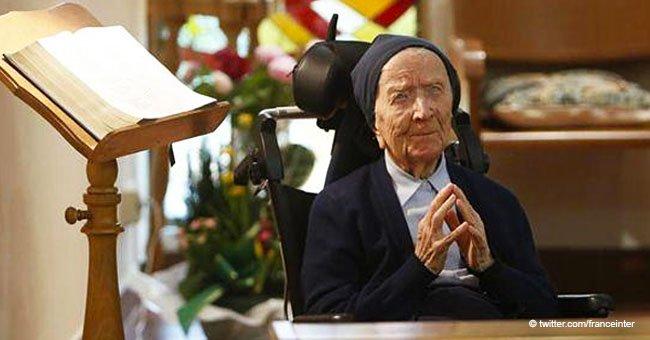 La plus vieille femme de France célèbre son 115e anniversaire avec une phrase réconfortante