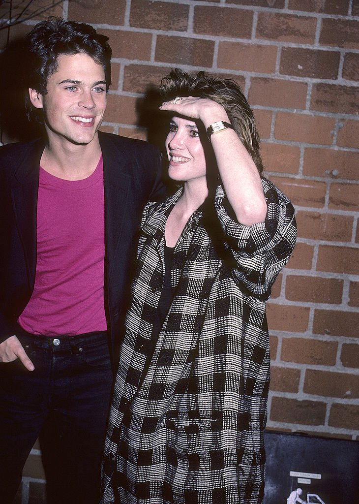 """Rob Lowe and Melissa Gilbert at """"The Hotel New Hampshire"""" West Hollywood Premiere on March 1, 1984 at the DGA Theatre 