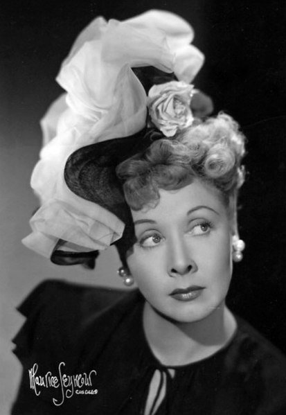"Vivian Vance promotes ""Springtime for Henry."" 