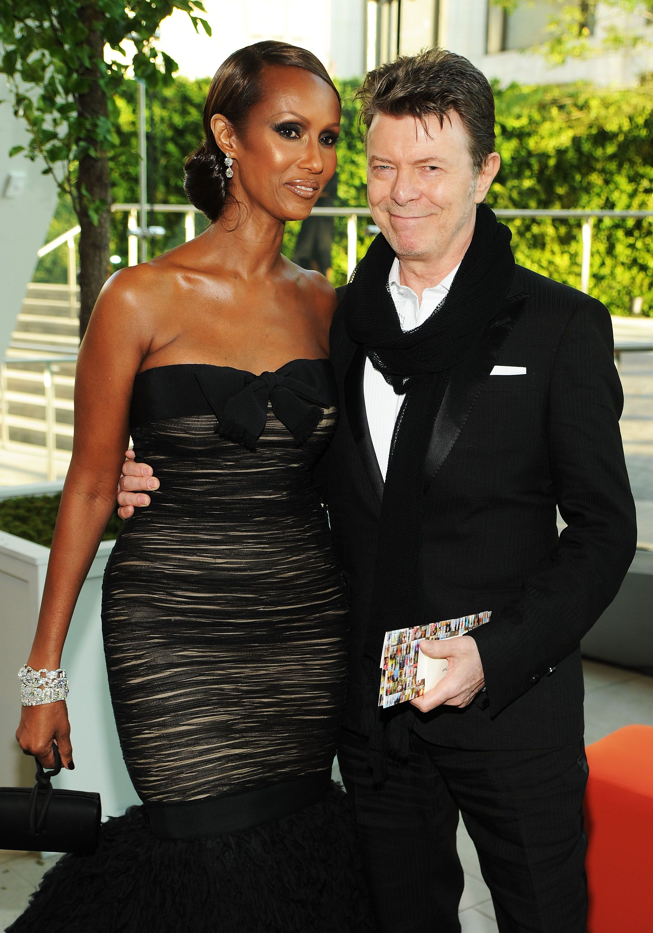 Model Iman and musician David Bowie at the 2010 CFDA Fashion Awards at Alice Tully Hall, Lincoln Center on June 7, 2010 | Photo: Getty Images