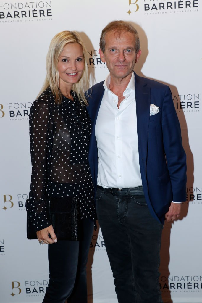 Marie et Frédéric Saldmann le 17 septembre 2018 à Paris. l Source : Getty Images