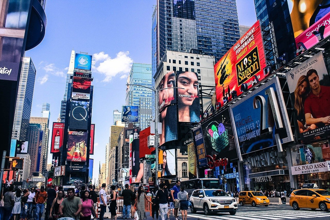 Pictured - Times Square in Manhattan, New York City   Source: Pixabay