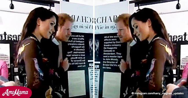 Meghan Markle catches her breath after feeling the baby kick, and the video is cuteness overload