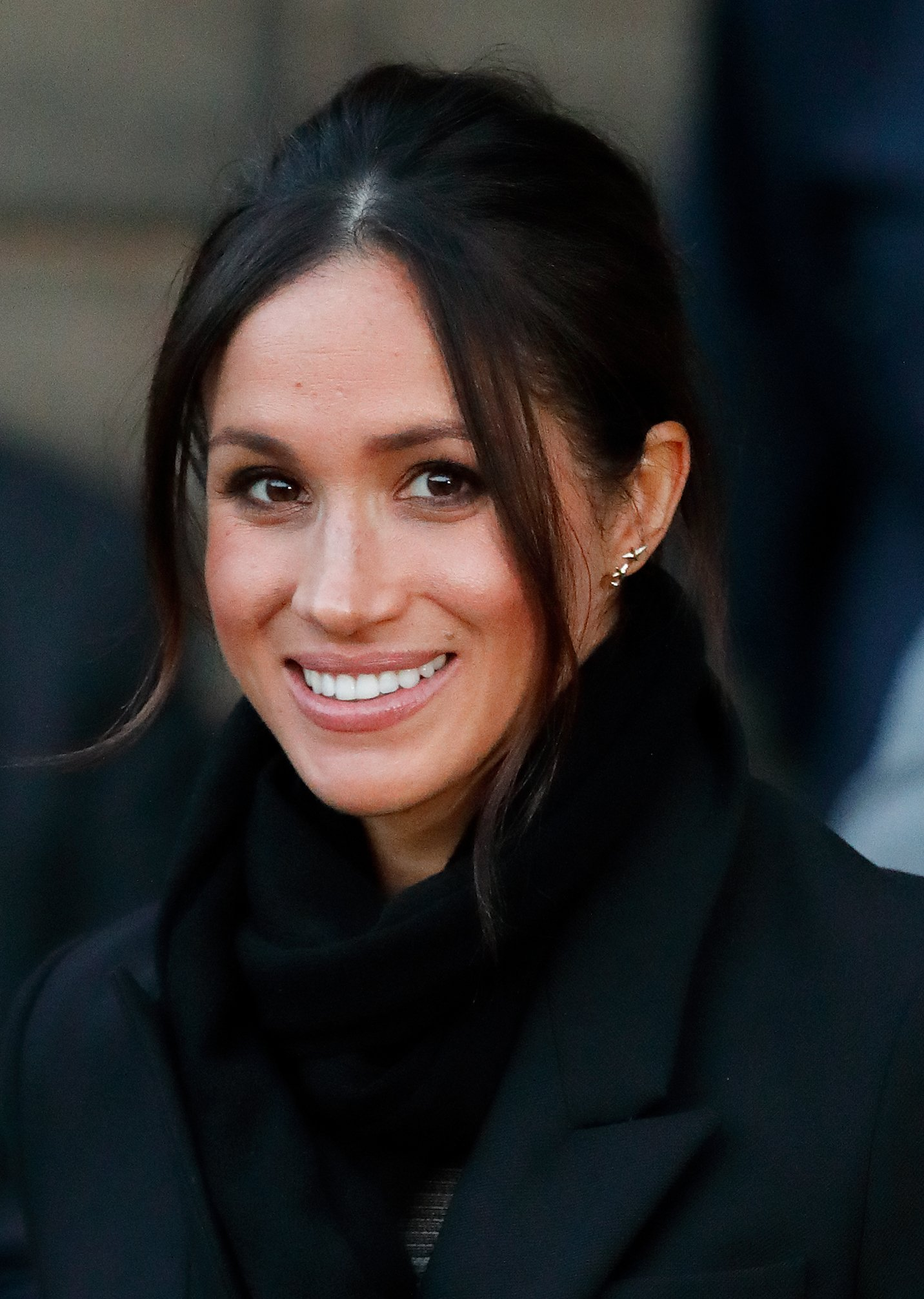 Meghan Markle visiting Cardiff Castle in January 2018. | Photo: Getty Images
