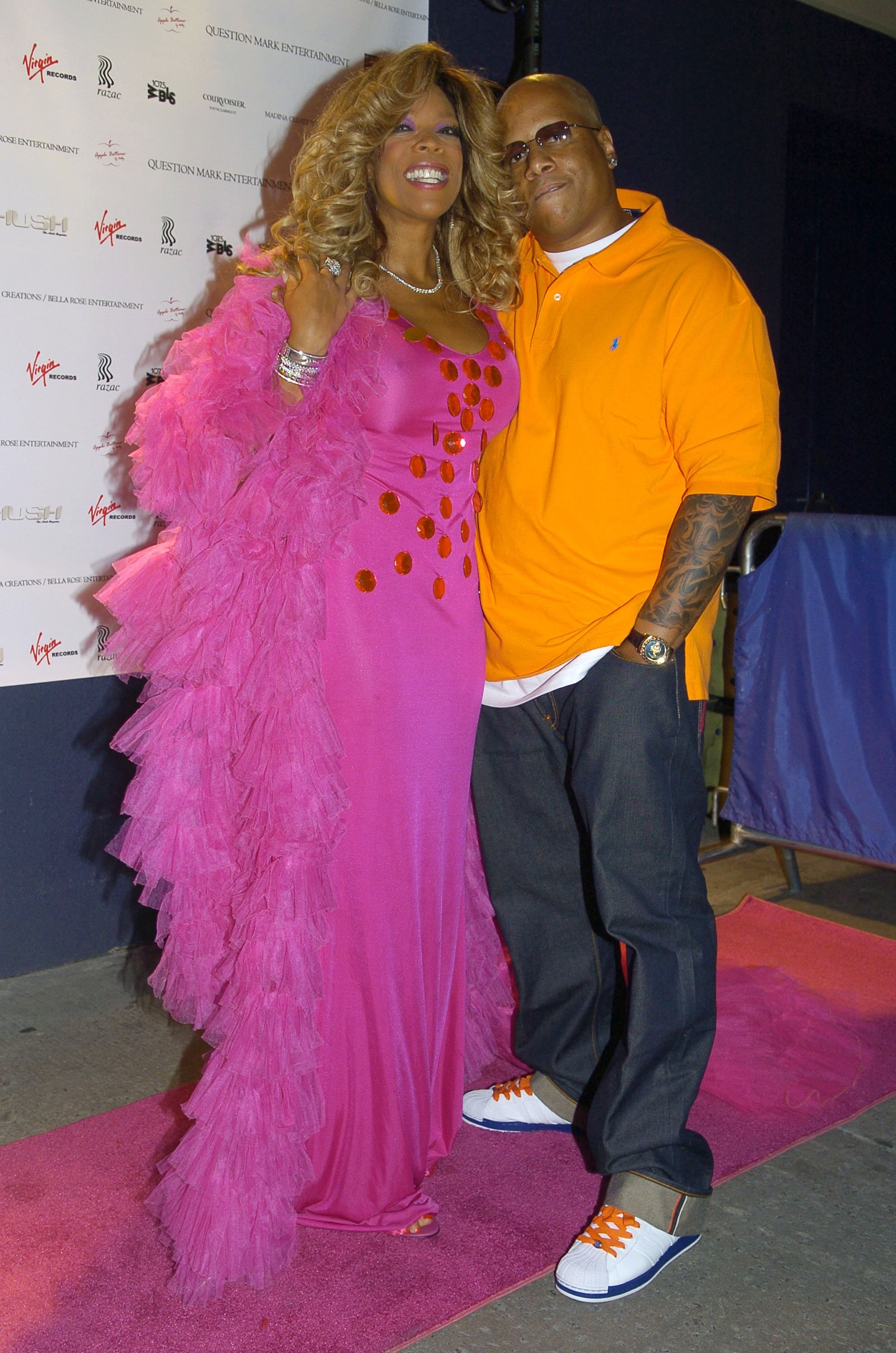 Wendy Williams and Kevin Hunter attending the release party for Wendy Williams Brings The Heat, Vol. 1 at Quo on June 22, 2005, in New York City. | Source: Getty