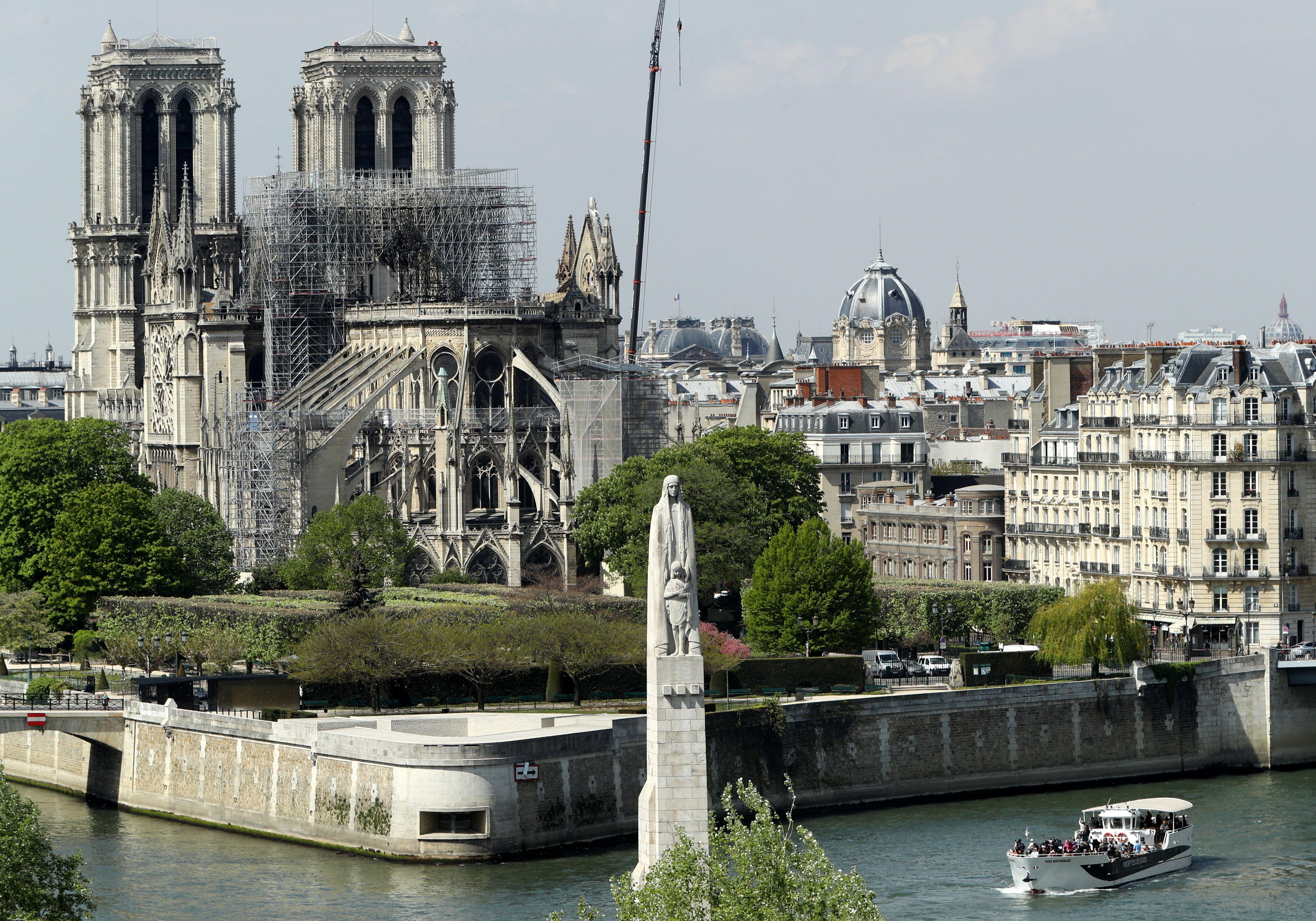 Notre-Dame après l'incendie   Source : Getty Images