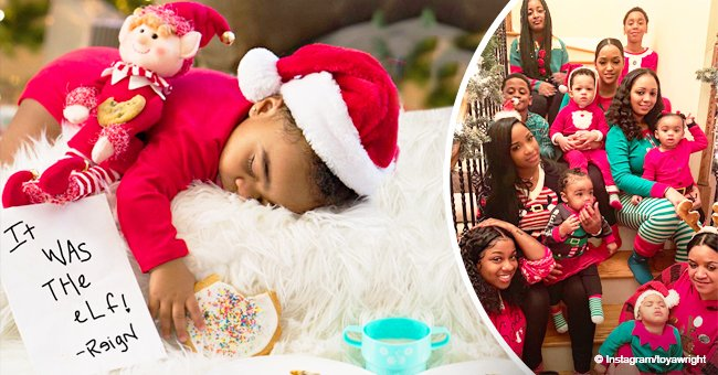 Toya Wright shares adorable Christmas photos with her big family in matching holiday outfits