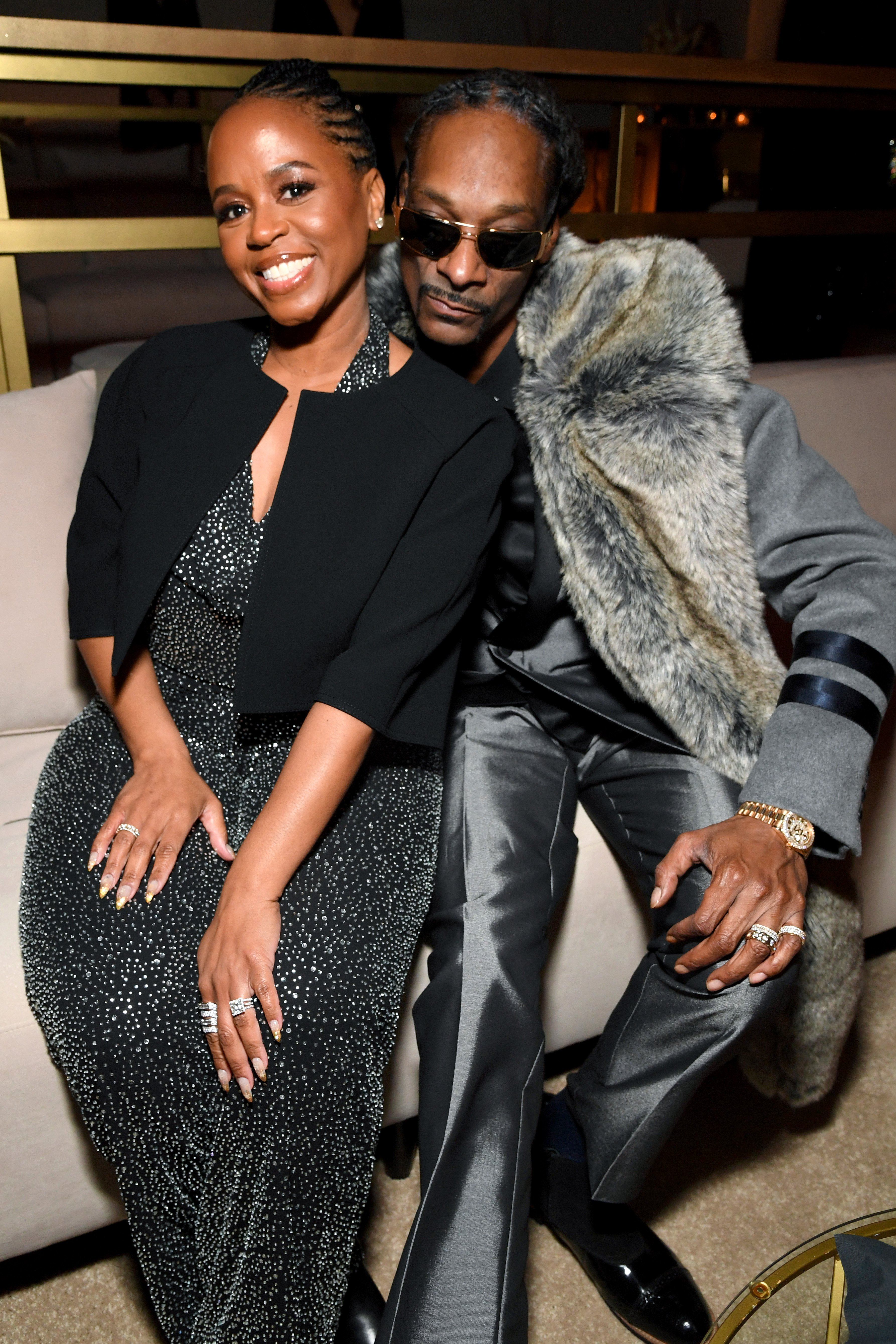 Shante Broadus and Snoop Dogg attend Sean Combs 50th Birthday Bash presented by Ciroc Vodka on December 14, 2019 | Photo: GettyImages