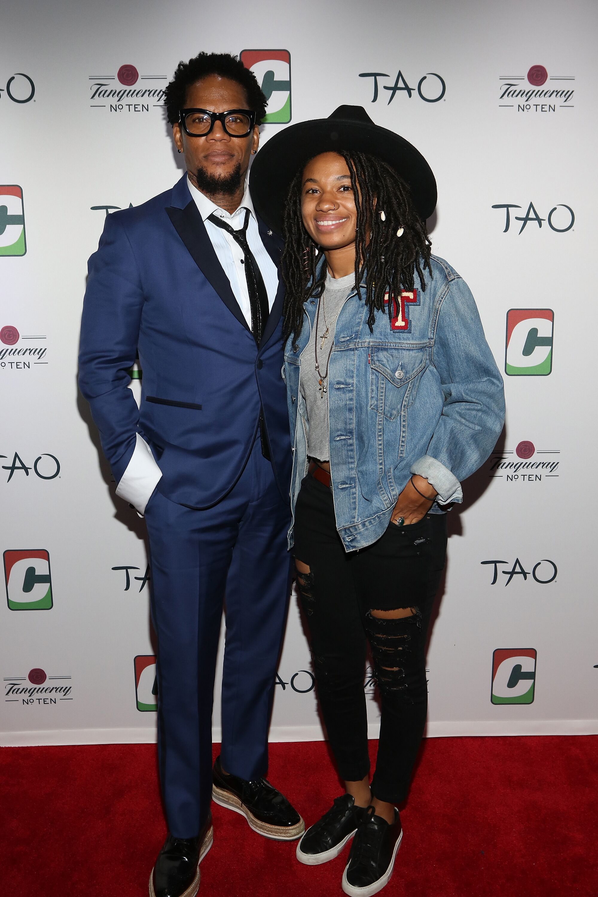 D. L. Hughley and daughter Tyler Hughley at the Dave Chappelle Birthday Celebration in New York in 2017 | Source: Getty Images