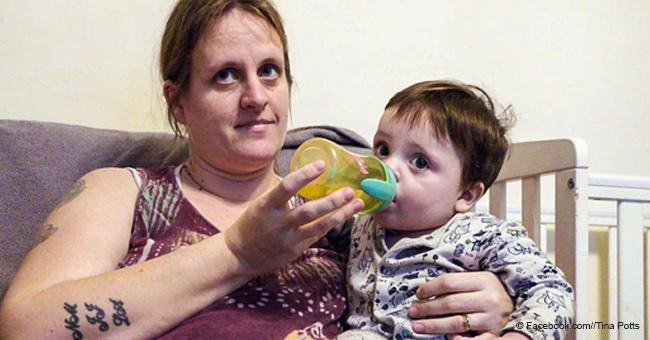 Mamá dice que su bebé no puede respirar porque caridad los obliga a vivir en casa con moho tóxico