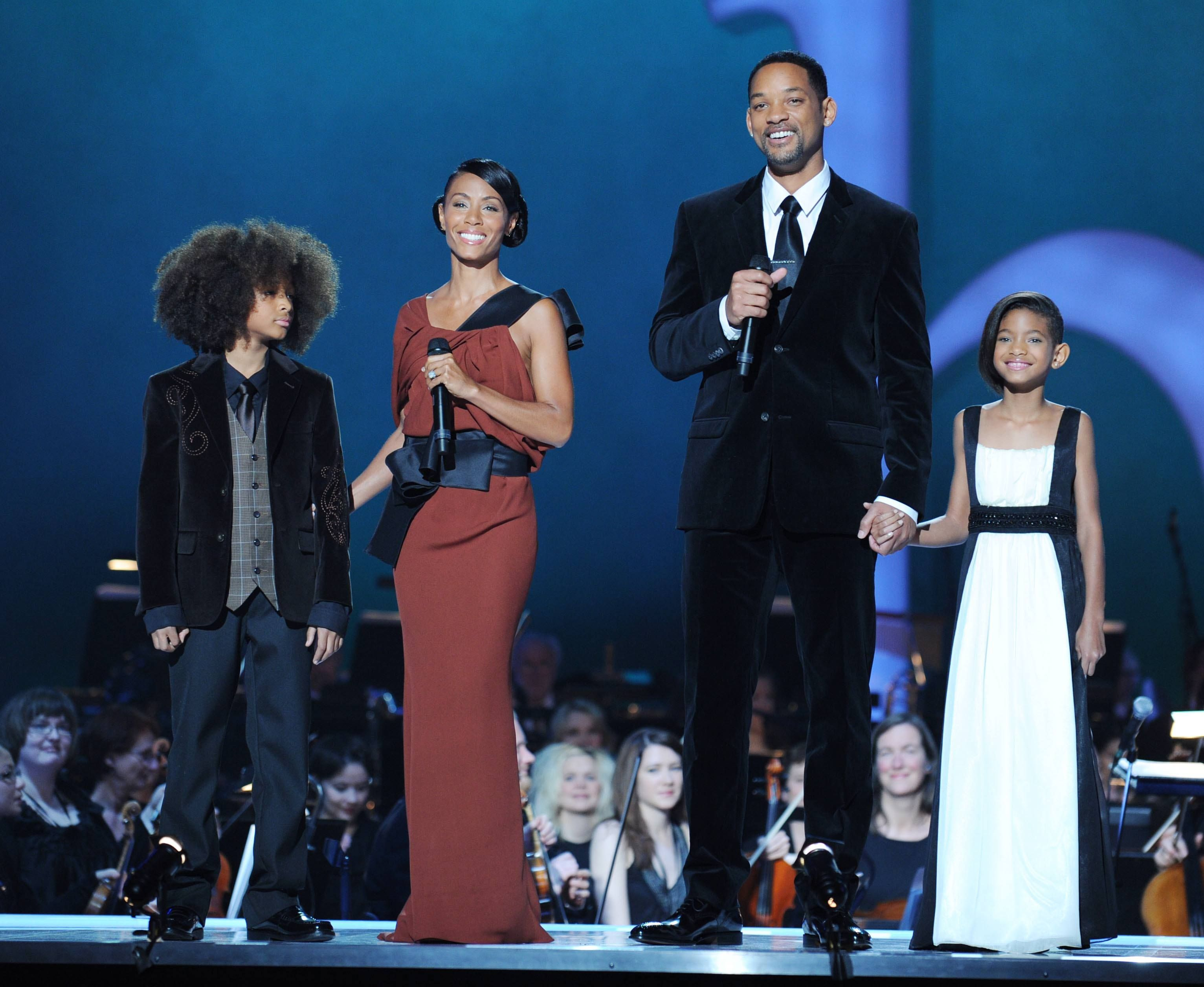 Jade Pinkett Smith and Will Smith with Jaden and Willow Smith at the Nobel Peace Prize Concert in 2009 in Oslo, Norway | Source: Getty Images