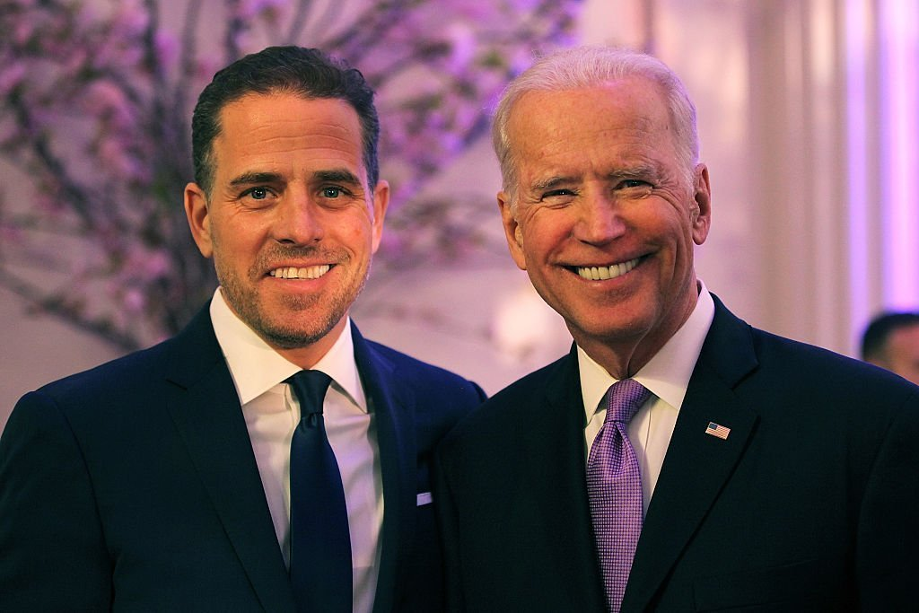 Hunter Biden and U.S. Vice President Joe Biden attend the Annual McGovern-Dole Leadership Award Ceremony on April 12, 2016, in Washington, DC. | Source: Getty Images.