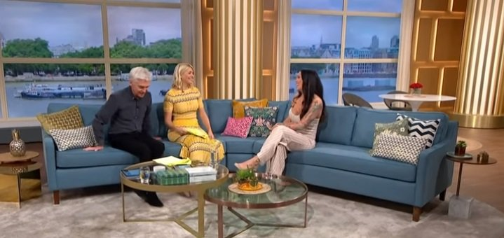 "Holly Willoughby and Phillip Schofield on an episode of ""This Morning"" with Jenna Thompson.