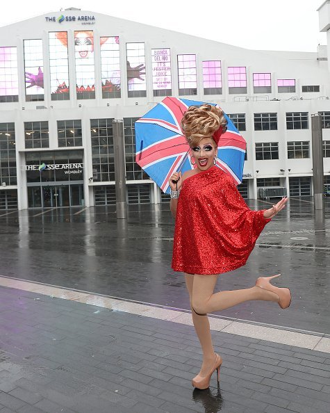 Bianca Del Rio appears at SSE Arena Wembley ahead of her September 2019 UK arena tour on December 05, 2018, in London, England. | Source: Getty Images.