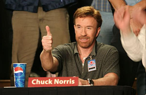 """Chuck Norris in """"Dodgeball."""" Image Source: Red Hour Productions. YouTube/Movieclips"""