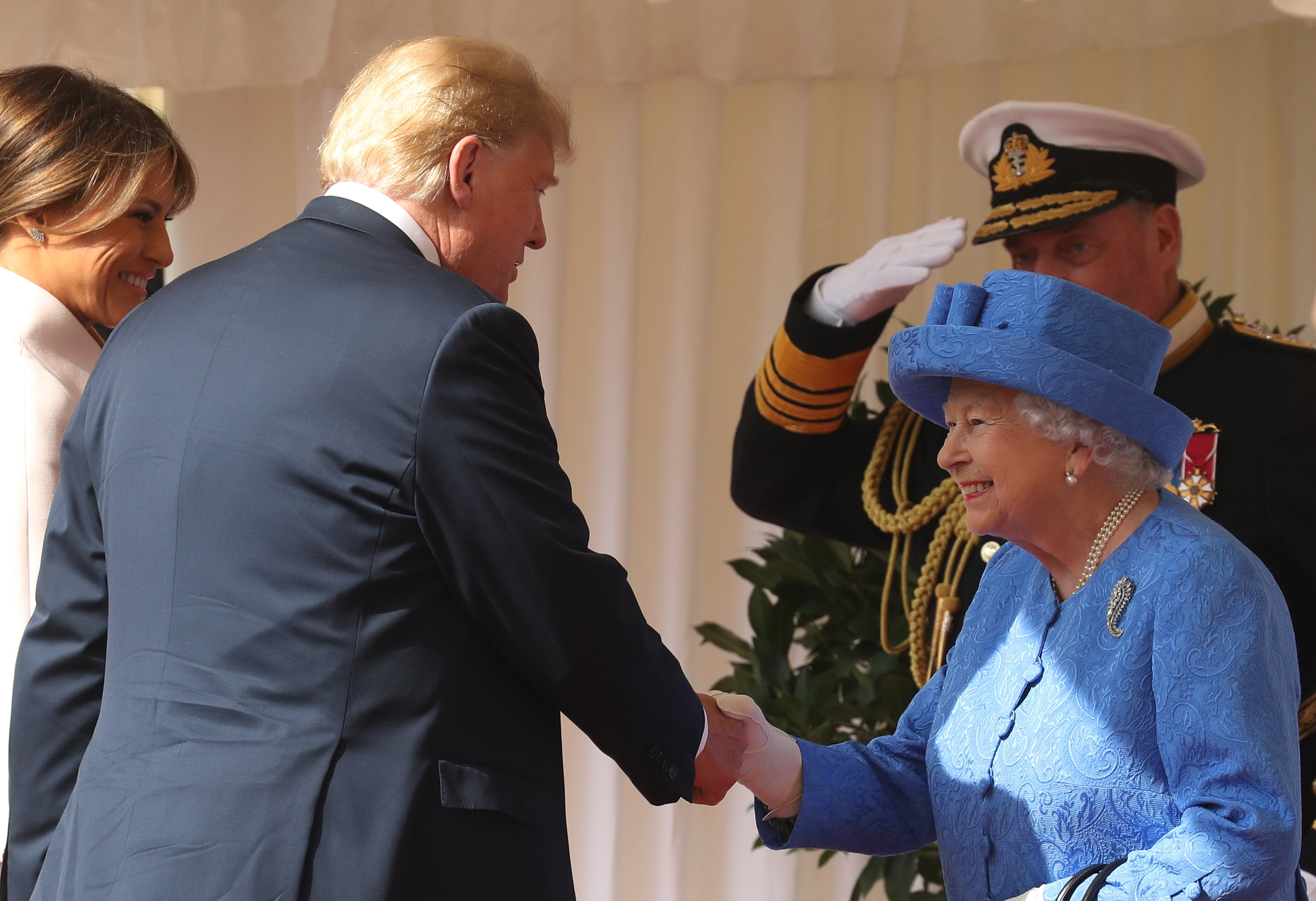 President Donald Trump and First Lady Melania Trump meeting the Queen in July 2018 | Photo: Getty Images
