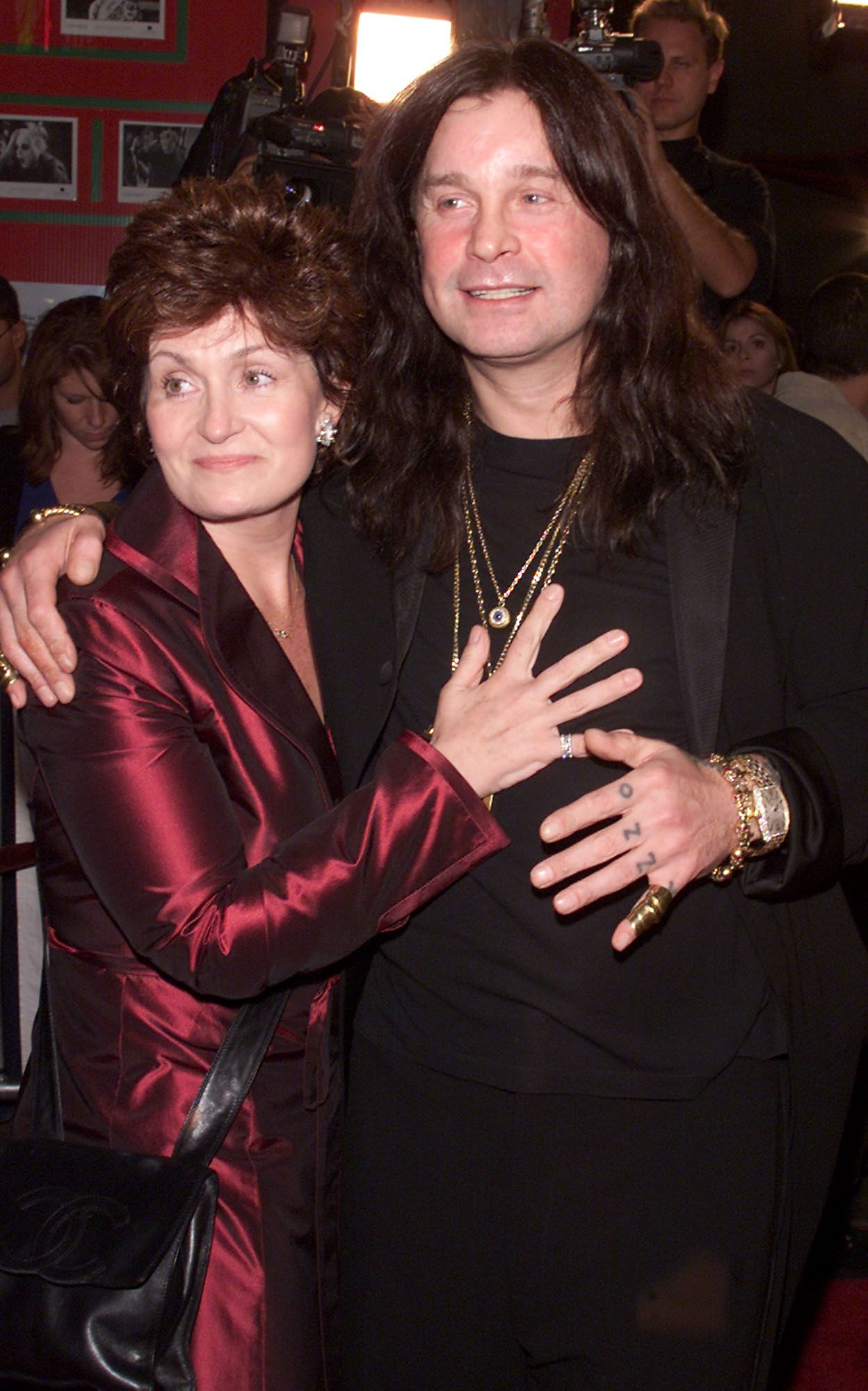 "Sharon and Ozzy Osbourne at the premiere of ""Little Nicky"" in Los Angeles, California on November 2, 2000 