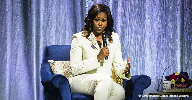 Michelle Obama Continues Her Elegant Shows-Up during 'Becoming' Tour Wearing Pale Mint Suit