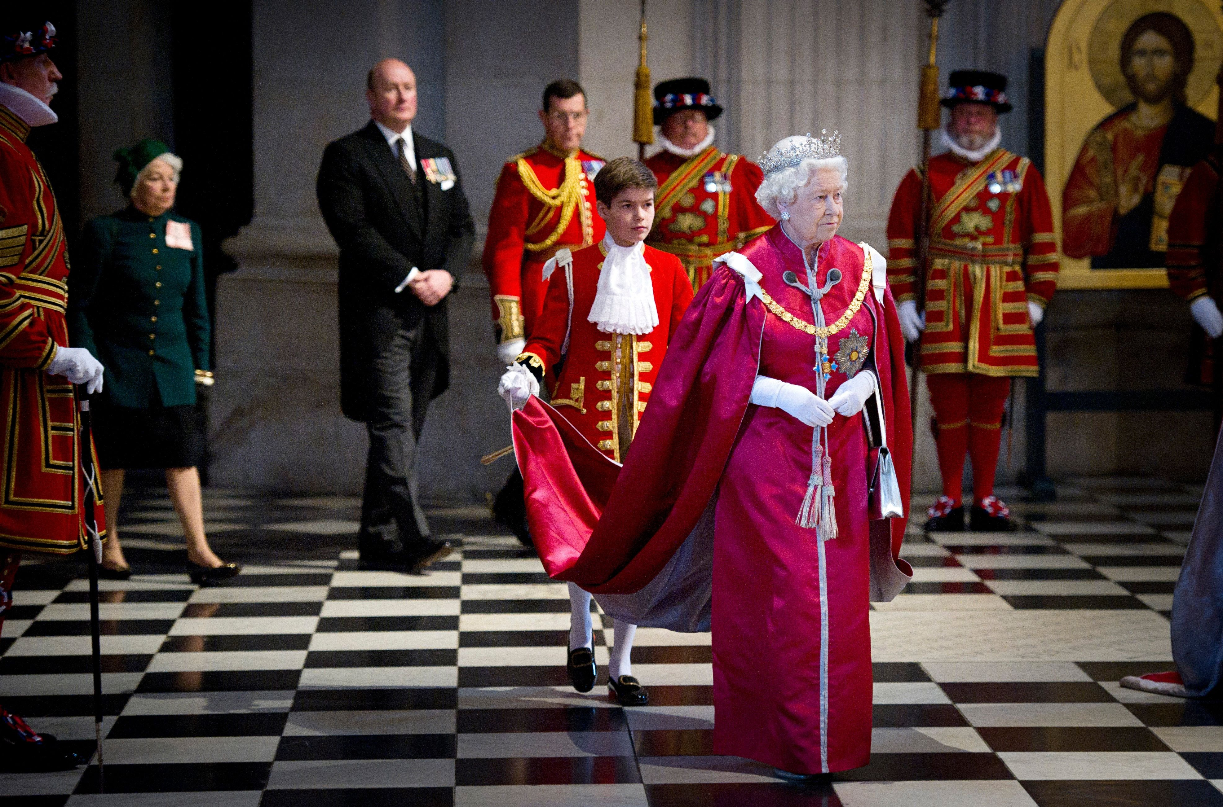 Queen Elizabeth II at a service for the Order of the British Empire at St Paul's Cathedral in 2012 in London, England | Source: Getty Images