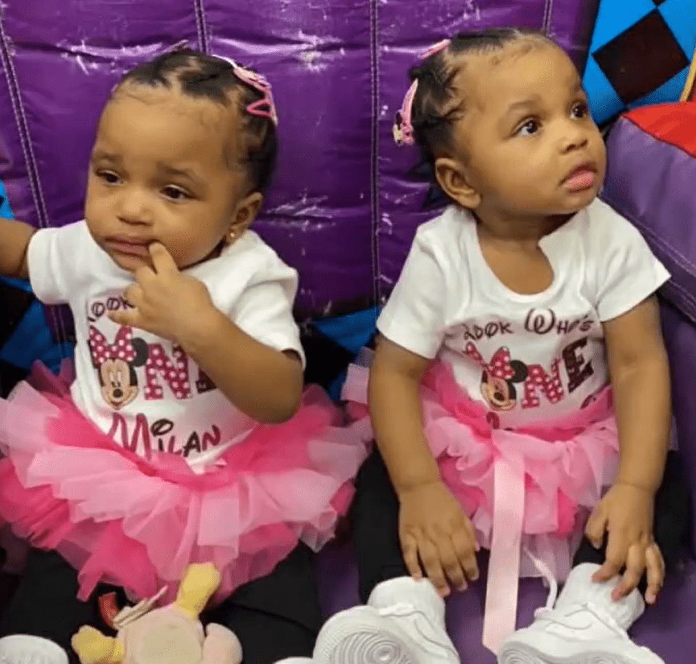 18-month-old twin girls Milan and Malaysia. │Source: Fox 2 Detroit
