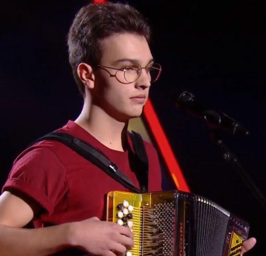 Pierre durant les auditions à l'aveugle. l Source : TF1 Replay