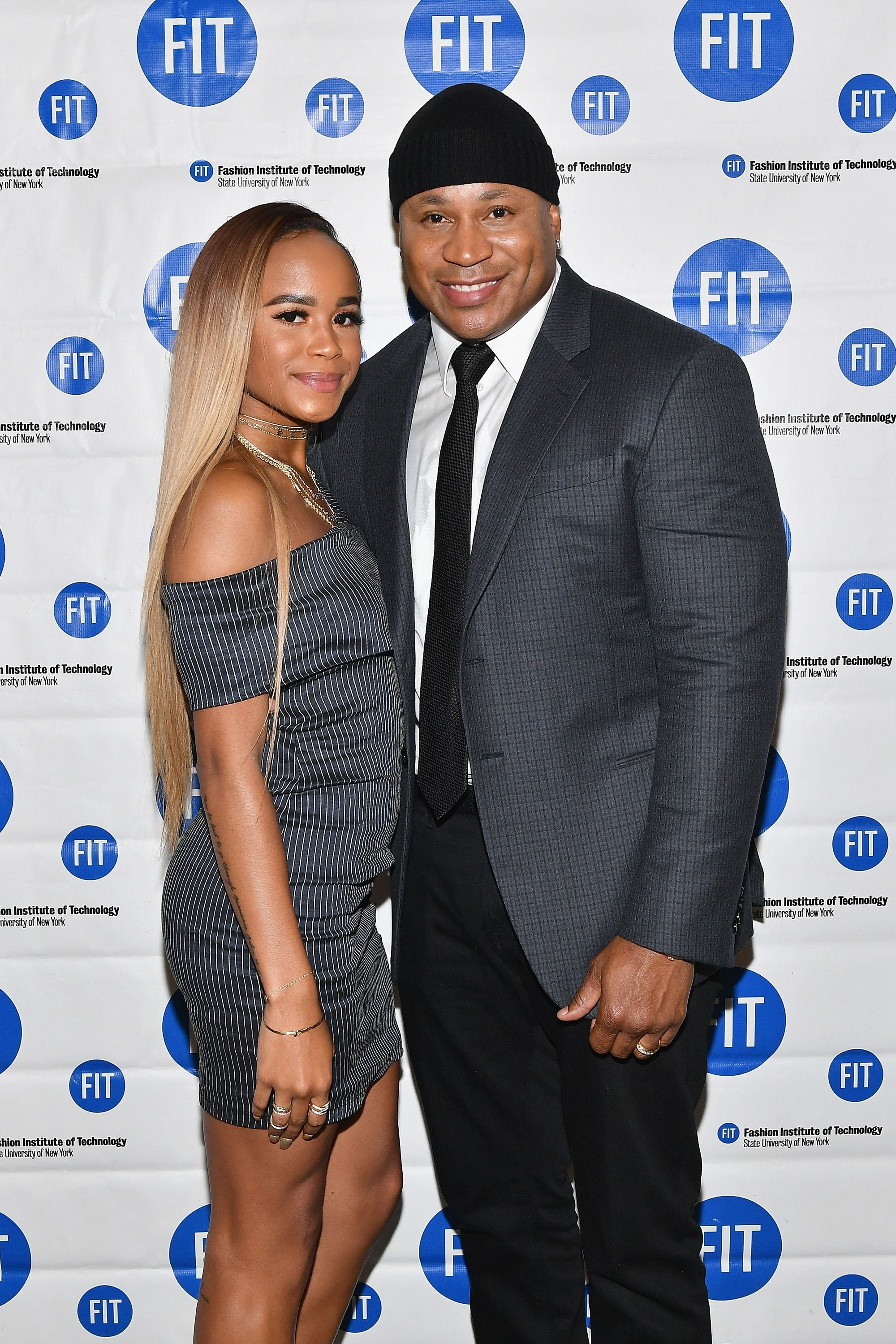 Samaria Leah Smith and LL Cool J at the FIT's 2017 Commencement Ceremony on May 25, 2017 | Photo: Getty Images