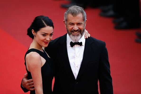 Mel Gibson and Rosalind Ross attend the closing ceremony of the 69th annual Cannes Film Festival. | Source: Getty Images