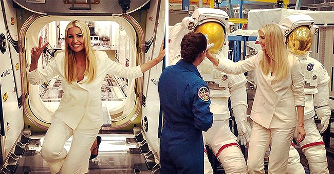 Ivanka Trump Stuns in Off-White Pantsuit during NASA's Johnson Space Center Tour in Old Snaps