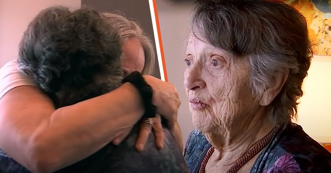 Purinton and Moultroup share a warm hug after years of separation.   Photo: youtube.com/FOX 13 Tampa Bay