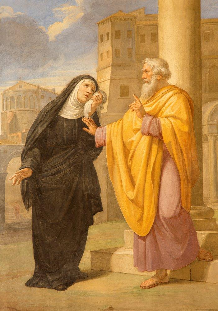 Fresco de San Agustín y su madre Santa Mónica en la Basílica de San Agustín.| Fuente: Shuttertsock