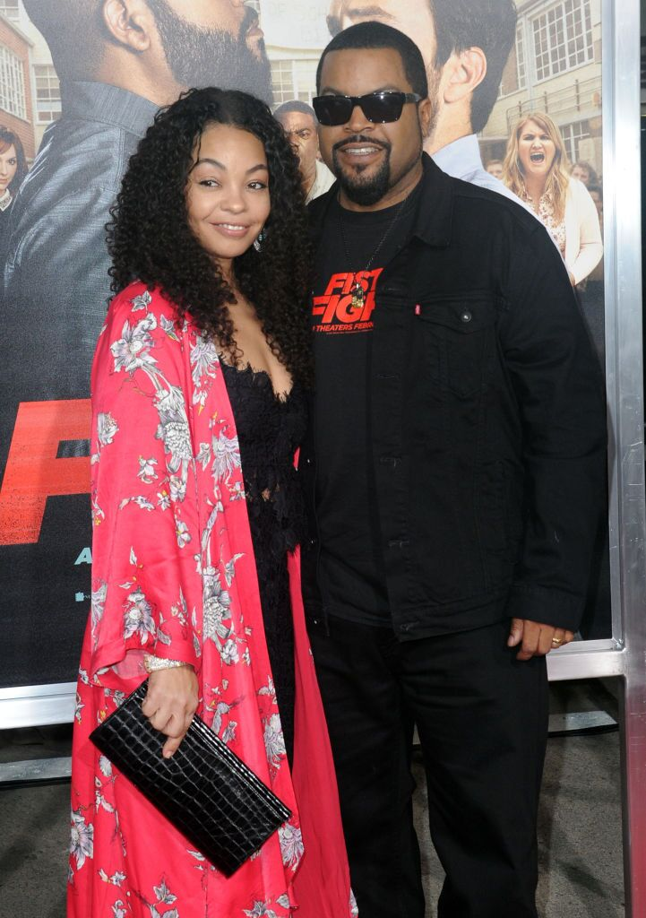 "Ice Cube and Kimberly Woodruff at the premiere of ""Fist Fight""in 2017 in Los Angeles 
