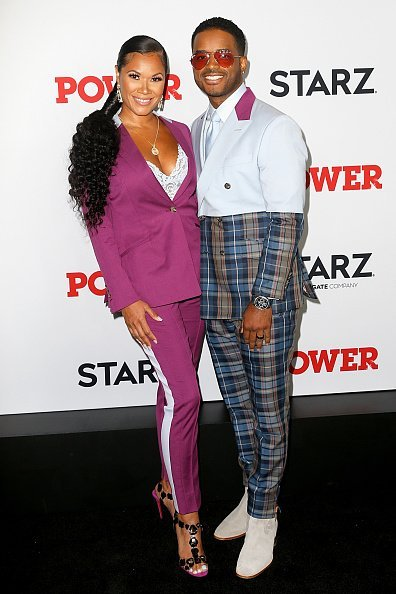 Tomasina Parrott and Larenz Tate at Madison Square Garden in New York City.  Photo: Getty Images.
