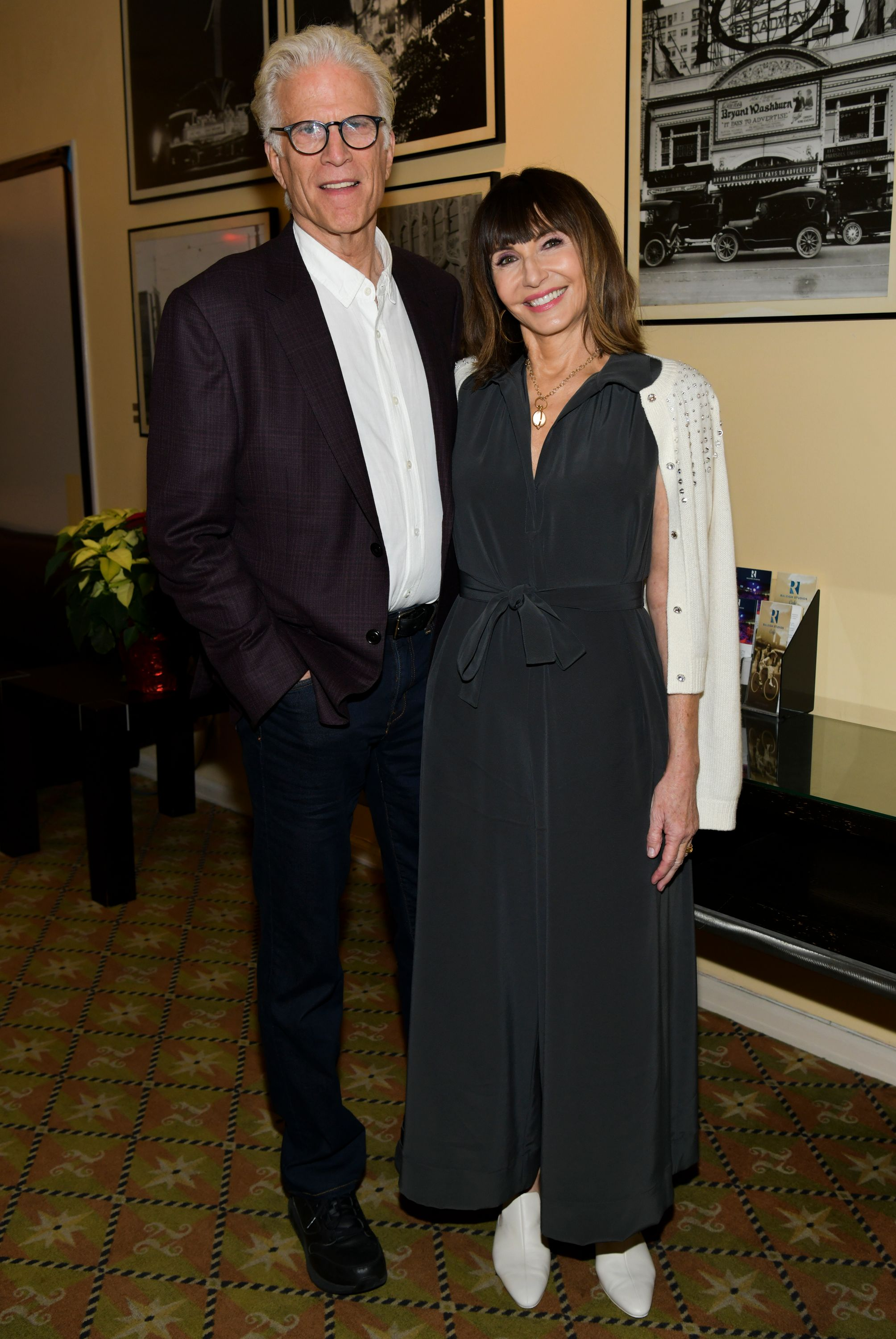 "Ted Danson (L) and Mary Steenburgen at a special screening of ""Wild Rose"" at Raleigh Studios on December 06, 2019 