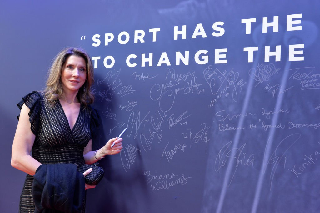 Monica Seles by the Nelson Mandela wall during the 2019 Laureus World Sports Awards on February 18, 2019. | Photo: Getty Images