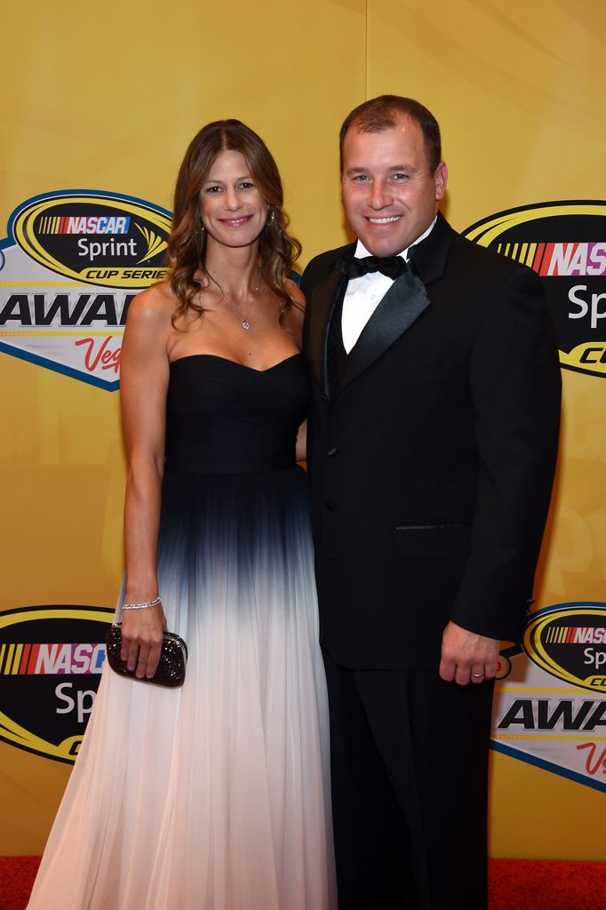 Ryan Newman (R) and his wife Krissie Newman arrive on the red carpet prior to the 2014 NASCAR Sprint Cup Series Awards at Wynn Las Vegas on December 5, 2014 in Las Vegas, Nevada. | Source: Getty Images