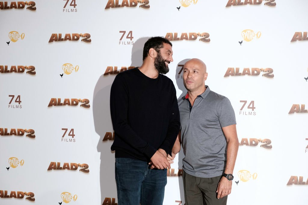 "Ramzy Bedia et Eric Judor assistent à la première de ""Alad'2"" à Paris au Grand Rex le 21 septembre 2018 à Paris, France 